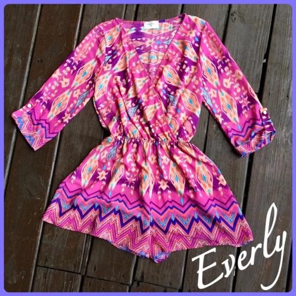 31b59713bb13 Everly Pants - EVERLY Aztec Print Romper